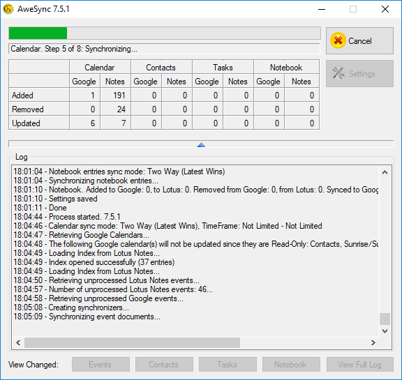 graphic regarding Calendar Notes named AweSync sync your IBM/Lotus Notes with Google!